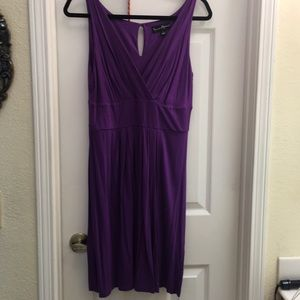 Purple Rayon Dress L Mercer & Madison